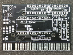 Simple AY interface PCB